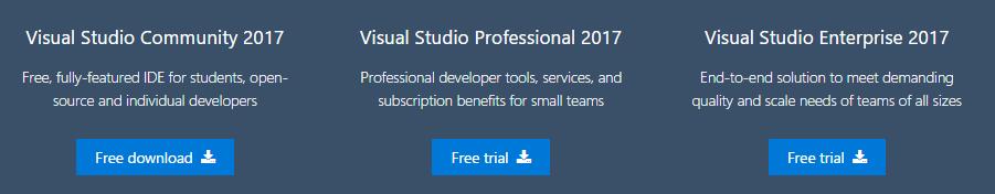 Visual studio 2017 Edition