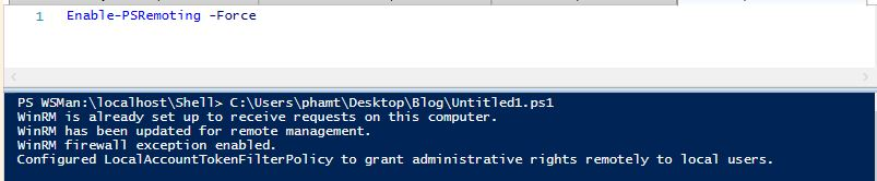 How to enable powershell remoting