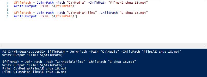 Path.Combine in Powershell