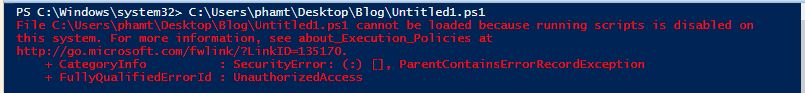 How to enable powershell script