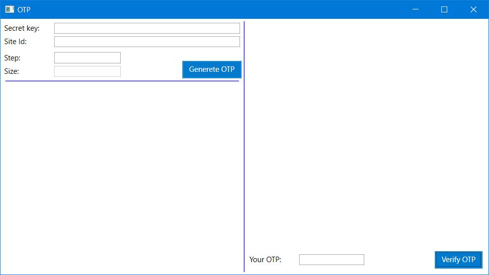 Tạo OTP bằng ứng dụng c#
