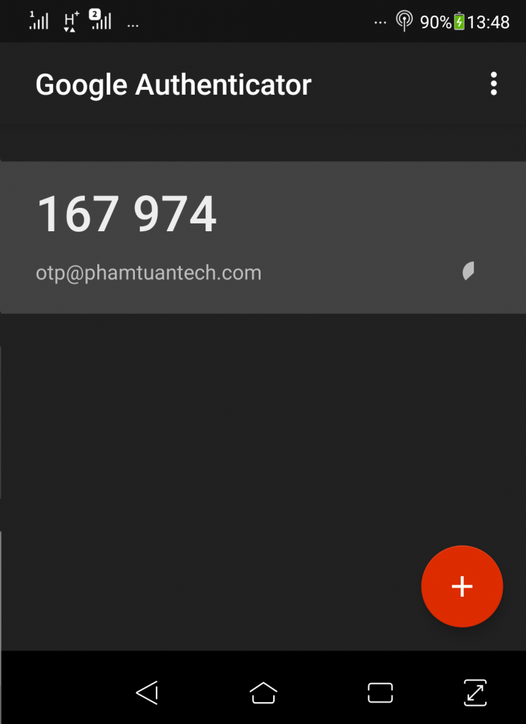 lien ket OTP google authenticator